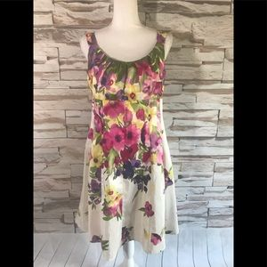 Dressbarn Floral Dress Sz 10 (O08)